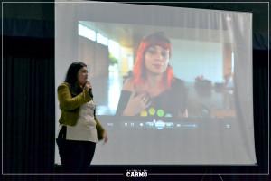 Ariadyne Acunha em apresentação
