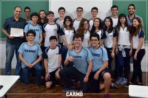 A turma de 21 alunos do ensino médio encararam a prova nível 4, considerada a mais difícil da competição.