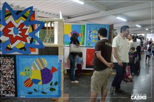 """Vernissage da mostra de artes """"Mundo Colorido""""."""