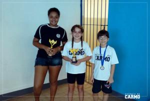 Vitória Louzada, Ana Beatriz e Ryan Gomes, enxadristas do Colégio do Carmo